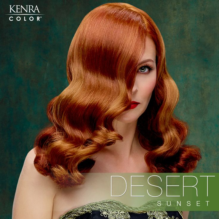 Kenra Hair Color Ads with Anna Easteden